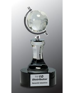 8.5 in. Crystal Spinning Globe with Tower