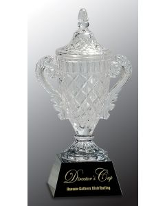 12 3/4 in. Crystal Cup on Black Base