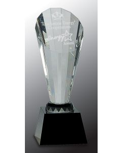9 1/2 in. Crystal Faceted Rising Spire on Black Base