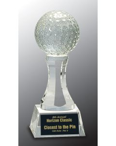 6 in. Crystal Golf Ball on Clear Base