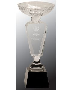 12 in. Clear Crystal Cup with Black Base