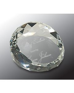 1 3/4 x 2 1/2 Clear Round Paperweight