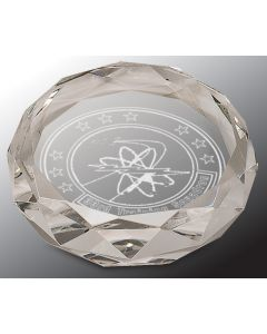 3 in. Clear Round Paperweight