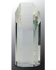 8 in. Crystal Octagon Tower