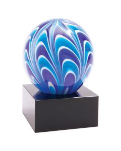 5 in. Two-Tone Blue & White Sphere