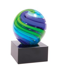 5 in. Two-Tone Blue & Green Sphere