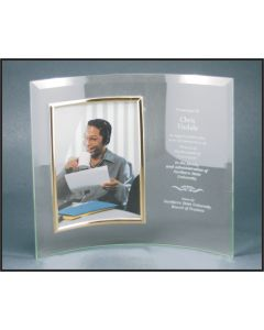 8 x 11 Jade Glass Crescent with Frame