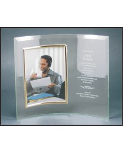 10 x 12 Jade Glass Crescent with Frame