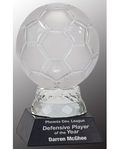 6 1/4 in. Glass Soccer Ball with Marble Base