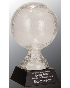7 1/2 in. Glass Basketball with Marble Base