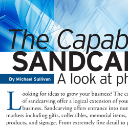 Capabilities of Sandcarving